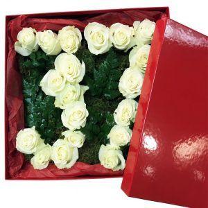 caja de rosas para regalo